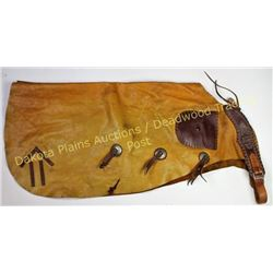 Pair HH Heiser bat wing chaps very good condition, Mule Shoe Bar, Alliance Nebraska ranch brand on l