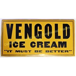 Original Vengold ice cream paper advertisement 12 X24  printed by Moore Co, Cochranton Pennsylvania,