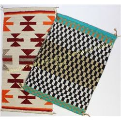 "Collection of 2 small Navajo rugs both good, 29""X33"" and 20""X38""  Est. 150-250"