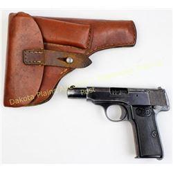 Walther model 4, 7.65 cal. SN 487067 Post-war gun, good original condition, 40-50% finish remaining,
