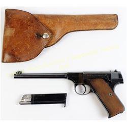 Colt Woodsman 22 cal SN 70145 pre-war semi automatic pistol made in 1930, 6.5  barrel, blue finish,