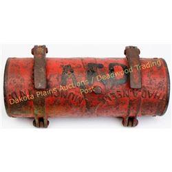 Scarce Lead, S.D. firehouse repair collar Lead Alert Fire Department cast iron firehouse repair coll