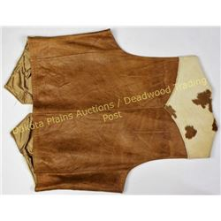 Vintage mens calfskin leather vest size 42, by Scullys.  Est. 50-100