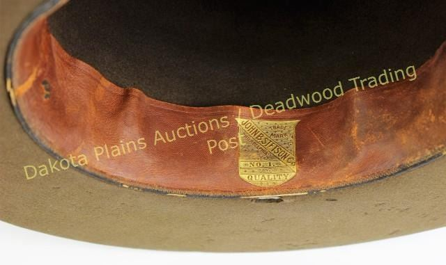 834d2e088bee74 Image 1 : Good early Boss of the Plains cowboy hat by John B Stetson, ...