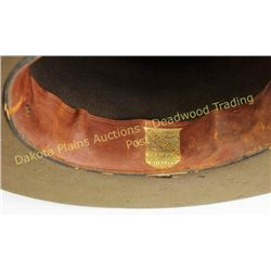 Good early Boss of the Plains cowboy hat by John B Stetson, marked on leather sweatband.  Est. 125-2