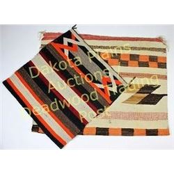 """Collection of 2 Navajo rugs 30""""X60"""" showing moderate wear, light stains, and 43""""X66"""" c. 1920's-1930'"""