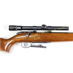 "Remington Scoremaster .22 cal SN EN49 bolt action rifle with 24"" barrel and weaver V22 scope, condit"