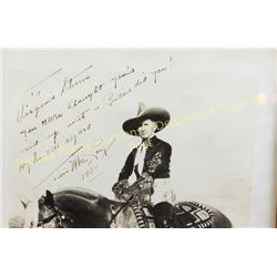 Original signed and dated photo of Tim McCoy early Hollywood cowboy, 1891-1978, started in silent mo