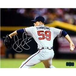 Shae Simmons Signed Braves 8x10 Photo (Radtke COA)