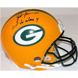 "Brett Favre Signed LE Packers Full-Size Authentic Pro-Line Helmet Inscribed ""Last to Wear 4"" #5/44 ("