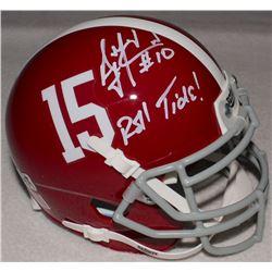 "AJ McCarron Signed Alabama Mini-Helmet Inscribed ""Roll Tide!"" (Radtke COA)"