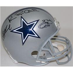 Emmitt Smith, Troy Aikman  Michael Irvin Signed Cowboys Full-Size Helmet (Radke COA, Aikman  Smith H
