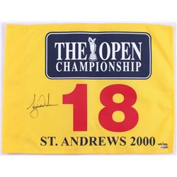 Tiger Woods Signed LE 2000 British Open Pin Flag (UDA COA)