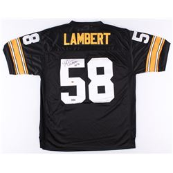 "Jack Lambert Signed Steelers Throwback Jersey Inscribed ""HOF 90"" (Radtke Hologram  Lambert Hologram)"