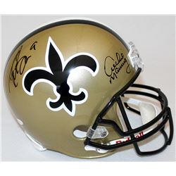 Drew Brees  Archie Manning Signed Saints Full-Size Helmet (JSA Hologram  Brees Hologram)
