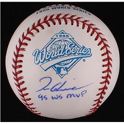 "Tom Glavine Signed 1995 World Series Baseball Inscribed ""95 WS MVP"" (Radtke COA)"