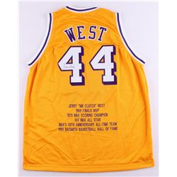 Jerry West Signed Lakers Career Highlight Stat Jersey (JSA COA)