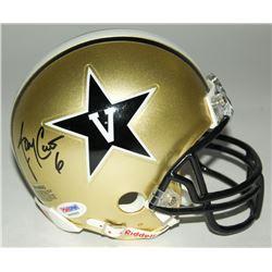 Jay Cutler Signed Vanderbilt Mini-Helmet (PSA Hologram