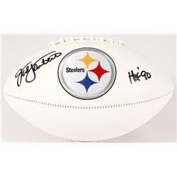 "Jack Lambert Signed Steelers Logo Football Inscribed ""HOF 90"" (JSA COA)"