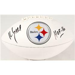 "Kevin Greene Signed Steelers Logo Football Inscribed ""HOF 16"" (JSA COA)"