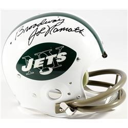 "Joe Namath Signed Jets Full-Size Suspension Helmet Inscribed ""Broadway"" (PSA COA  Namath Hologram)"