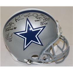 Troy Aikman, Emmitt Smith  Michael Irvin Signed Cowboys Full-Size Authentic Pro-Line Helmet With (3)