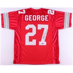 "Eddie George Signed Ohio State Buckeyes Jersey Inscribed ""Heisman 1995"" (Radtke COA)"