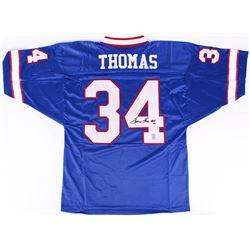 "Thurman Thomas Signed Bills Jersey Inscribed ""HOF 07"" (Thomas Hologram)"
