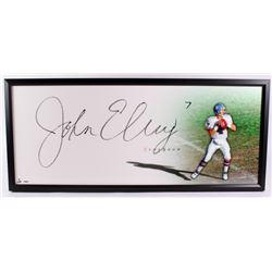 "John Elway Signed Broncos ""The Show"" 20x46 Custom Framed Display (UDA COA)"