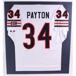 """Walter Payton Bears LE 32x36 Matted Jersey Inscribed """"Sweetness""""  """"16,726"""" (Steiner COA)"""