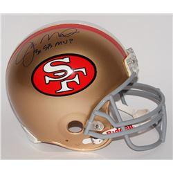 "Joe Montana Signed 49ers Full-Size Authentic Pro-Line Helmet Inscribed ""3x SB MVP"" (Radtke COA)"