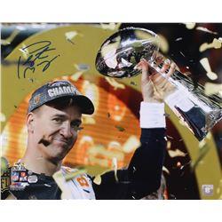 Peyton Manning Signed Broncos 16x20 Photo (Steiner COA  Fanatics Hologram)