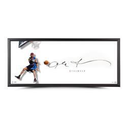 """Allen Iverson Signed The Show """"The Dish"""" 46x20 Custom Framed Lithograph (UDA COA)"""
