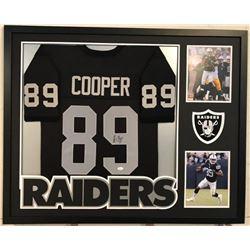 "Amari Cooper Signed Raiders 34"" x 42"" Custom Framed Jersey (JSA COA)"