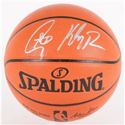 Stephen Curry  Klay Thompson Signed NBA Game Ball Series Basketball (Fanatics Hologram)