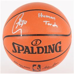 """Stephen Curry Signed NBA Game Ball Series Basketball Inscribed """"Human Torch"""" (Fanatics Hologram)"""