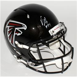 Vic Beasley Signed Falcons Full-Size Speed Helmet (JSA COA)