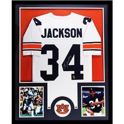 "Bo Jackson Signed Auburn Tigers 34"" x 42"" Custom Framed Jersey (Jackson Hologram)"