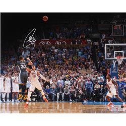 Stephen Curry Signed Warriors Game Winning Shot vs. OKC 16x20 Photo (Fanatics)