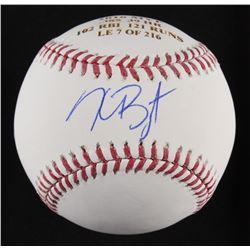 """Kris Bryant Signed LE """"2016 MVP"""" Laser Engraved OML Baseball (Fanatics  MLB)"""
