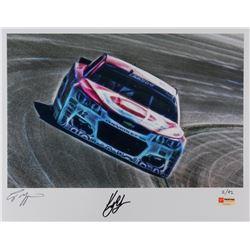 Kyle Larson Signed NASCAR Limited Edition Metallic 11x14 Photo #/42 (PA COA)