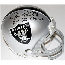 "Jim Plunkett Signed Raiders Mini-Helmet Inscribed ""2x Superbowl Champs"" (JSA COA)"