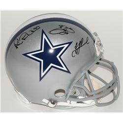 Emmitt Smith, Troy Aikman  Michael Irvin Signed Cowboys Full-Size Authentic Helmet (Radtke COA, PROV