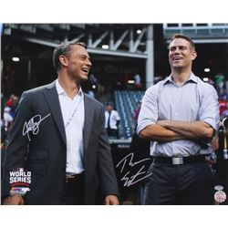 Theo Epstein  Jed Hoyer Signed Cubs 16x20 Photo (Schwartz COA)