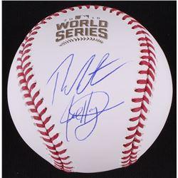 Theo Epstein  Jed Hoyer Signed 2016 World Series Baseball (Schwartz COA)