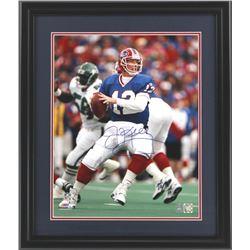 "Jim Kelly Signed Bills 23"" x 27"" Custom Framed Photo (Kelly Hologram)"