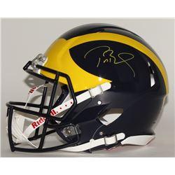 Tom Brady Signed Michigan Wolverines Authentic Pro-Line Full-Size Speed Helmet (Tristar)