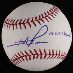 "Hunter Pence Signed OML Baseball Inscribed ""'14 WS Champs"" (MLB Hologram)"