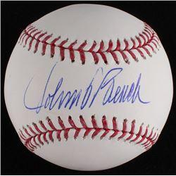 Johnny Bench Signed OML Baseball (MLB Hologram)