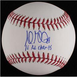 "Andrew Miller Signed OML Baseball Inscribed ""'16 AL Champs"" (MLB Hologram)"
